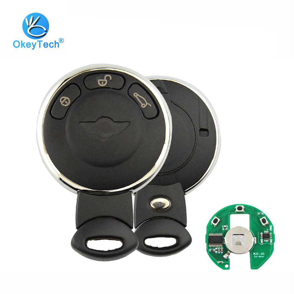 OkeyTech Smart Remote Key for BMW Mini Cooper Clubman Cabrio 3 Button with Insert Uncut Blade 315/315LP/433/868Mhz ID46 Chip
