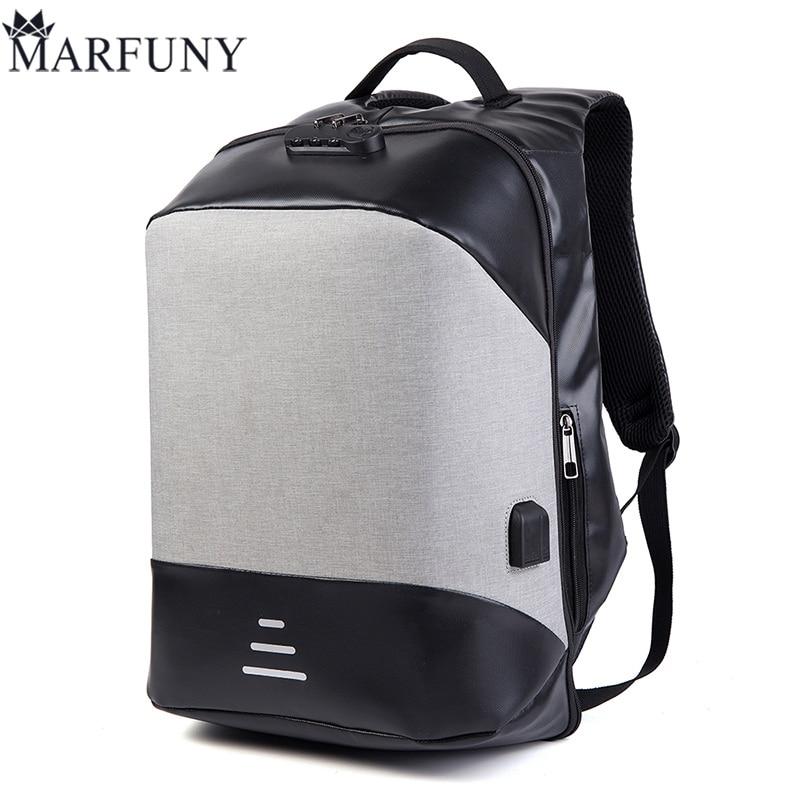4e5601943893 Мода Анти вор multi зарядка через usb для мужчин 17 дюймов ноутбука Рюкзаки  для подростка 2018 мужской Mochila отдыха и путешествий рюкзак