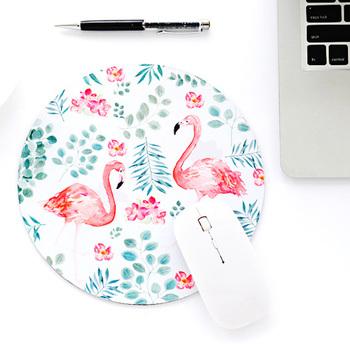 1 PC biuro podkład na biurko Flamingo wysokiej jakości mysz biurko narzędzia biurowe akcesoria zestaw biurowe organizer na biurko szkolne tanie i dobre opinie Biurko zestawy BLINGIRD A1570-77 natural rubber + silk cloth