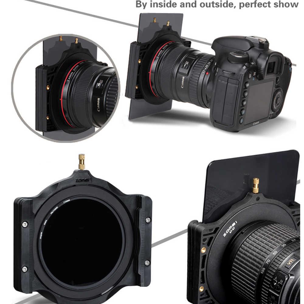Zomei 100 มม.ND Squareกล้องกรองและแหวนอะแดปเตอร์สำหรับCokin Lee Nisi Zomei 100*100 100*150 มม.