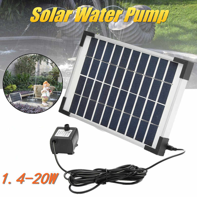 Solar Water Pump Power Panel Kit Pool Submersible Fountain Garden Plants Watering Power Fountain Pond Garden Outdoor Decor