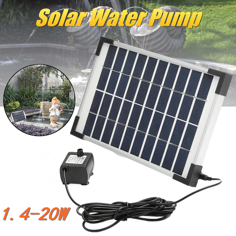 Solar Water Pump Power Panel Kit Pool Submersible Fountain Garden Plants Watering Power Fountain Pond Garden Outdoor Decor new pretty solar panel water floating pump fountain garden plants pool watering solar pump kit 1set