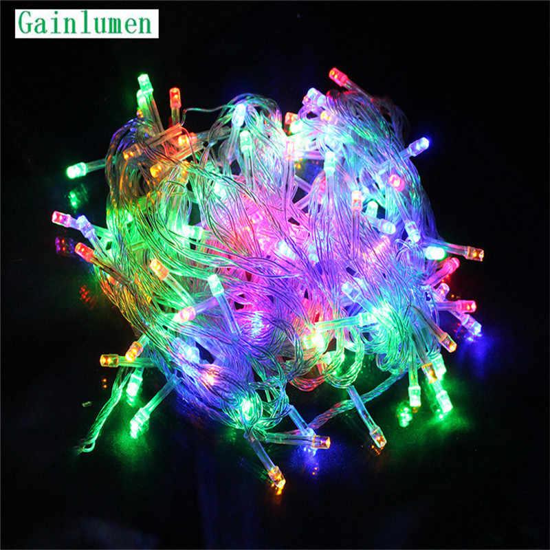 10M wodoodporny 110V 220V 100 LED łańcuch świąteczny oświetlenie do wystroju domu na zewnątrz święta bożego narodzenia Party Fairy LED Strip light