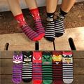 6 pairs = 1 lote Héroe de dibujos animados lindo de algodón hombres y mujeres calcetines de mitad de tubo Lindo colorido Arte 3D Kawaii calcetines de moda MF61847441