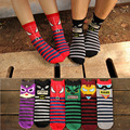 6pairs =1 lot Hero cartoon cute cotton men and women socks mid tube colorful Cute Art 3D Kawaii fashion socks MF61847441
