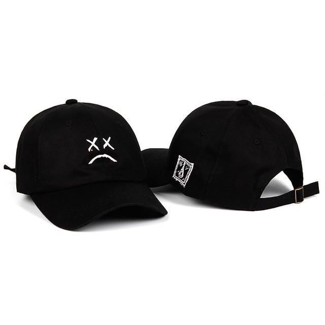Lil Peep Dad Hat Embroidery 100% Cotton Baseball Cap Sad face Hat xxxtentacion Hip Hop Cap Golf Love lil.peep Snapback Women Men 1
