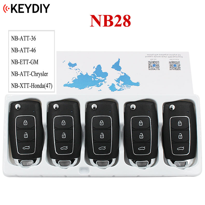 5PCS LOT KD900 URG200 KD X2 Key Master NB28 NB Series Multi functional Remote Control 5