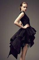 short Prom Dresses gala jurken robe de soiree 2019 tiered vestidos de gala sleeveless cheap prom dress party gown Evening dress