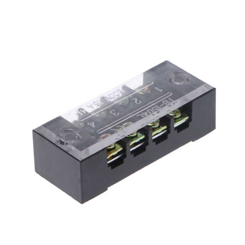 OOTDTY 600V 15A 4 ตำแหน่ง DUAL แถว Barrier Screw Terminal BLOCK Strip