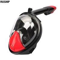 Anti Sis Tam Yüz Dalış Maskesi Dalış Şnorkel 180 Derece görüş Gopro Için Ücretsiz Solunum Dalış Dişli Tüp Yüzme Dalış maske