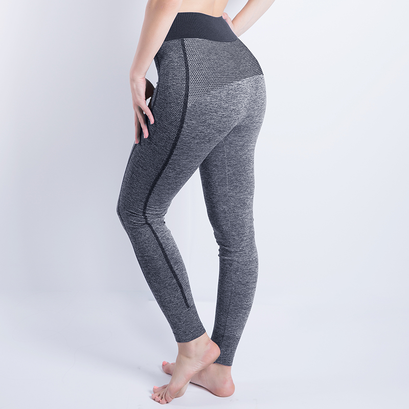 New Women High Waist Elastic Wicking Force Exercise Female Elastic Fitness Pants Slim Trousers  Sexy Cropped Leggings