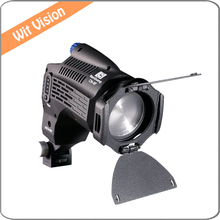 Mini Focusable LED Fresnel Spotlight with barndoor and Filter For Canon Nikon Sony Camera Camcorder