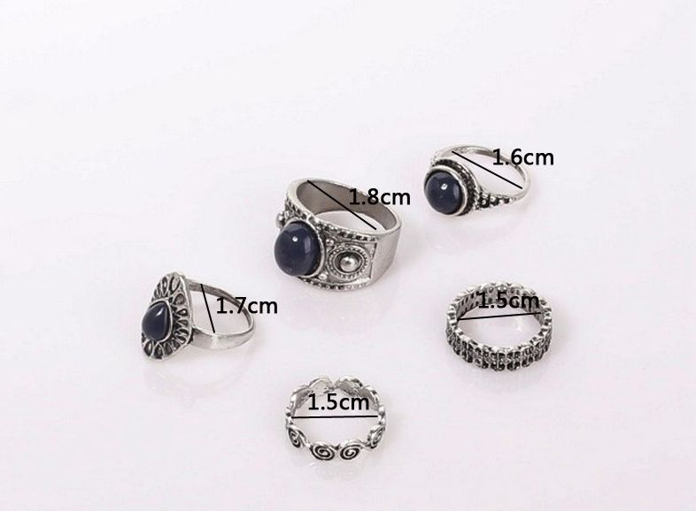 Wedding & Engagement Jewelry Flight Tracker Europe And America Act The Role Of Article Ring Of 5 Sets Boximiya Wave Sets A Ring