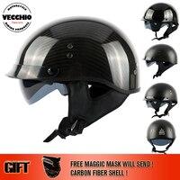 Vecchio 탄소 섬유 또는 유리 섬유 빈티지 반 오토바이 헬멧 capacete casco 제트 레트로 헬멧 888 크기 M-2XL