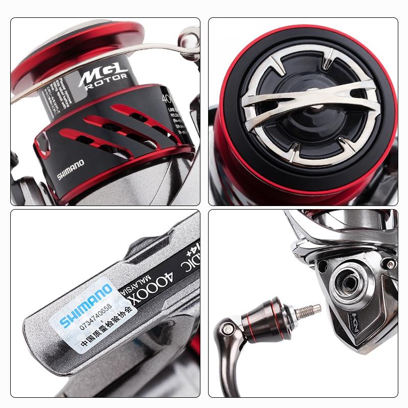 Image 5 - SHIMANO STRADIC CI4+ Spinning Fishing Reel 1000 2500 C3000 4000 Gear ratio 5.0:1/4.8:1 max drag 9kg Low Profile fishing reelsFishing Reels   -