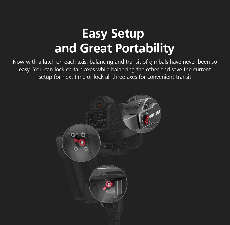 Zhiyun Crane 3 Lab Crane 2 Upgrade Version 3-Axis Gimbal Stabilizer for DSLR Cameras, 1080P Full HD Wireless Image Transmission 16
