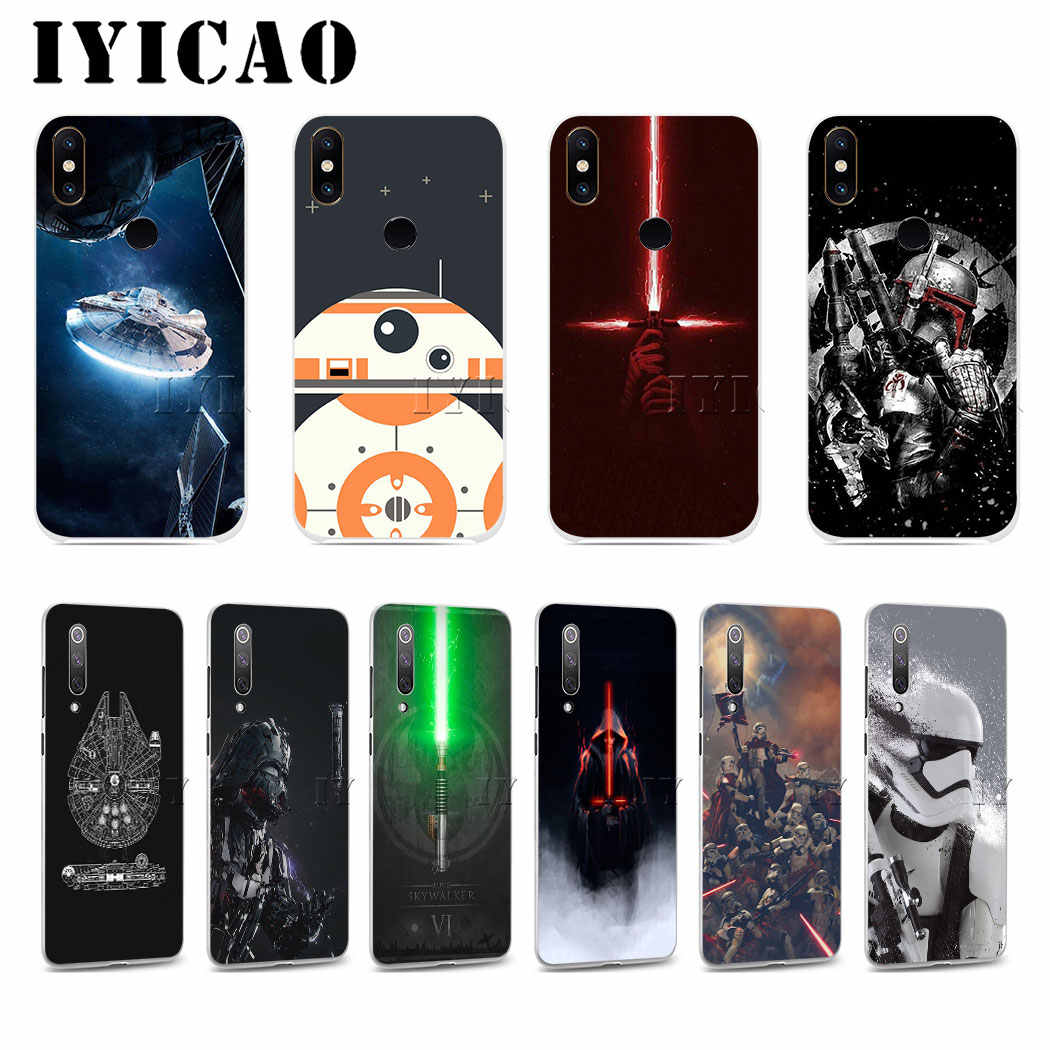 Iyicao star wars marvel duro para xiao mi 5 5S 6 9 8 a2 lite mi 5x a2 mi x 2 s f1 9 se max 3 9 t 9 a3 pro cc9e nota 8 pro