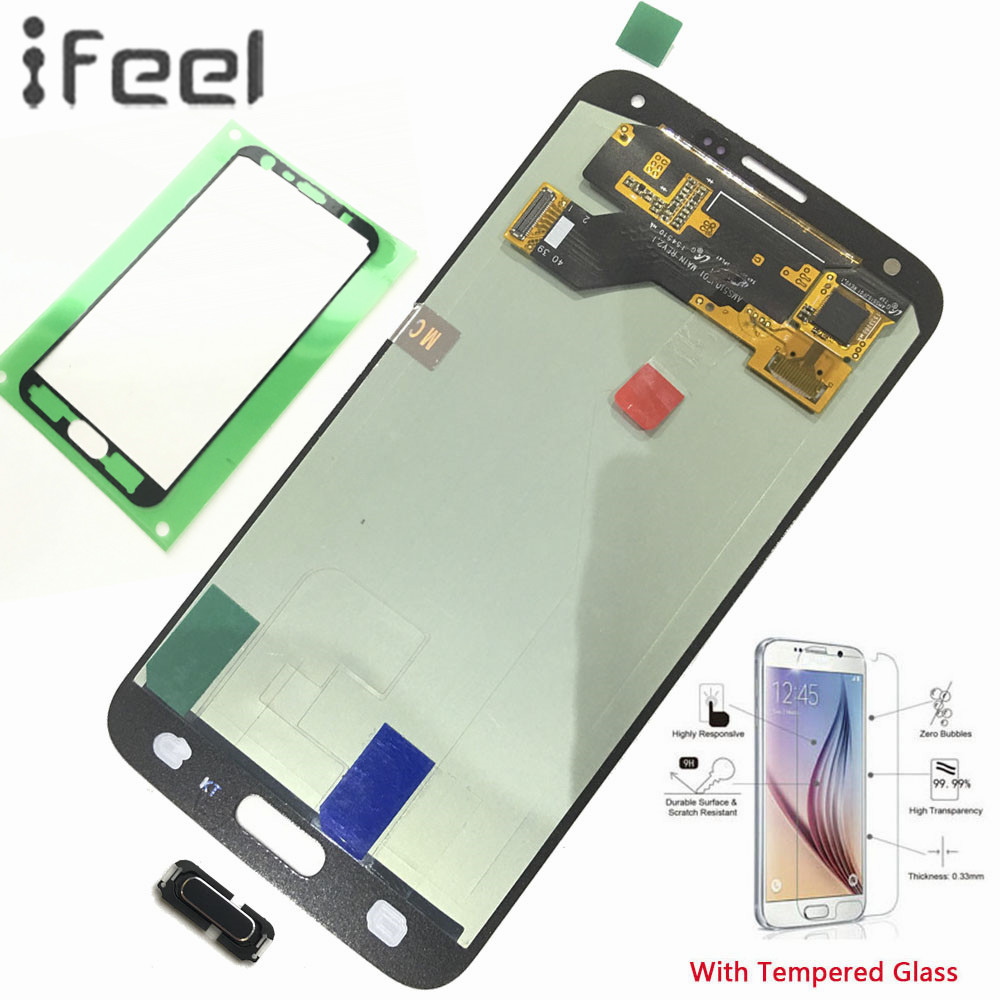 IFEEL 100% Tested Display LCD Touch Screen Digitizer Riparazione Per Samsung Galaxy S5 Neo G903 G903F G903W Super AMOLED Casa pulsanteIFEEL 100% Tested Display LCD Touch Screen Digitizer Riparazione Per Samsung Galaxy S5 Neo G903 G903F G903W Super AMOLED Casa pulsante