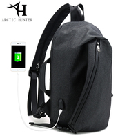 ARCTIC HUNTER Vintage Design Casual Three Uses Crossbody Bags USB Charger Male Chest Bag Shoulder Back