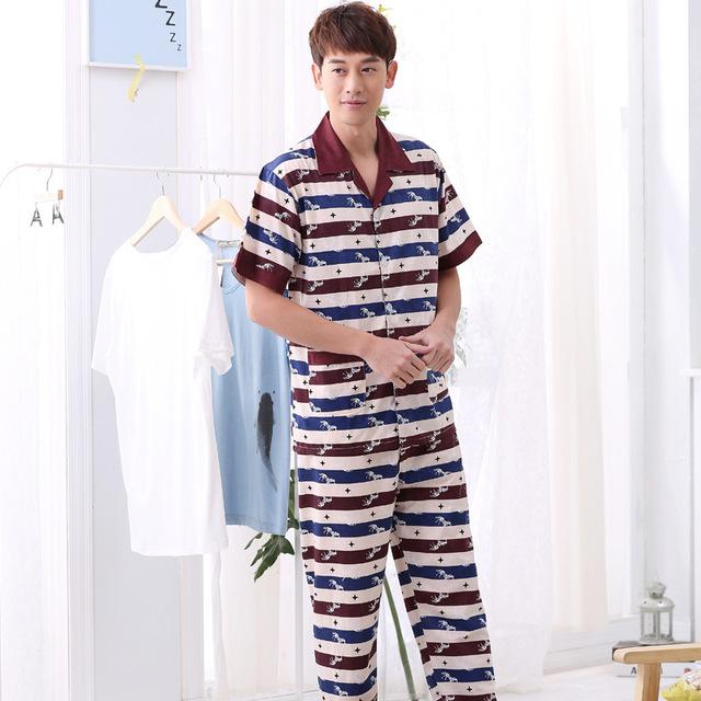 Nova Verão Fina de Manga Curta Terno Por Atacado Fabricantes Pijama Homewear Confortável Ocasional Respirável
