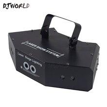 Завод оптовая продажа 1-10 шт. Шесть глаза RGB сканирование полный цветной лазер сцена эффект DMX512 освещение для танцев пол и DJ дискотека вечеринка