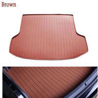 car trunk mat for Volkswagen Beetle CC Eos Golf Jetta Passat Tiguan Touareg sharan opel leather 3D carstyling carpet cargo liner