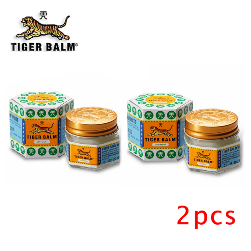2pcs White Tiger Balm Ointment Painkiller Muscle Pain Relief Ointment Soothe Itch For Headache And Suffy Nose