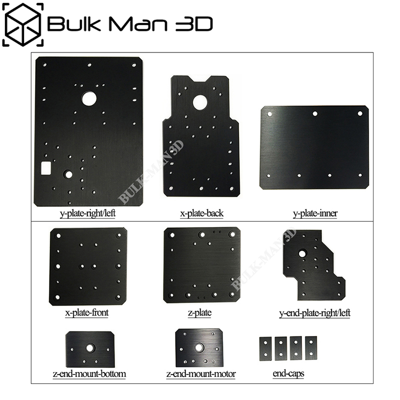 Aluminium WorkBee CNC Plates Set for WorkBee CNC Router Machine Lead Screw Driven and Belt Version