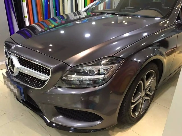 Gloss Metallic Gunmetal Vinyl Wrap Car Wrapping Styling With Air