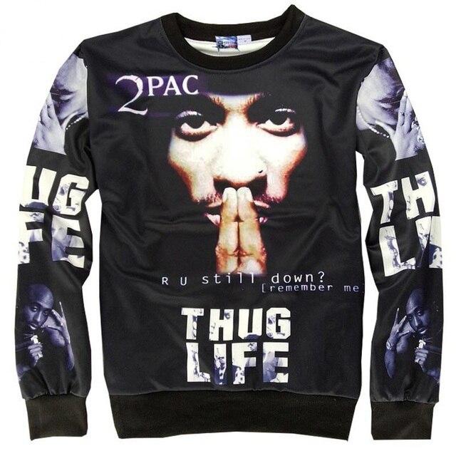 Los hombres de moda de América hoodies imprimir Rap cantante 2pac Tupac Hip  hop 3d sudaderas ef86b470618