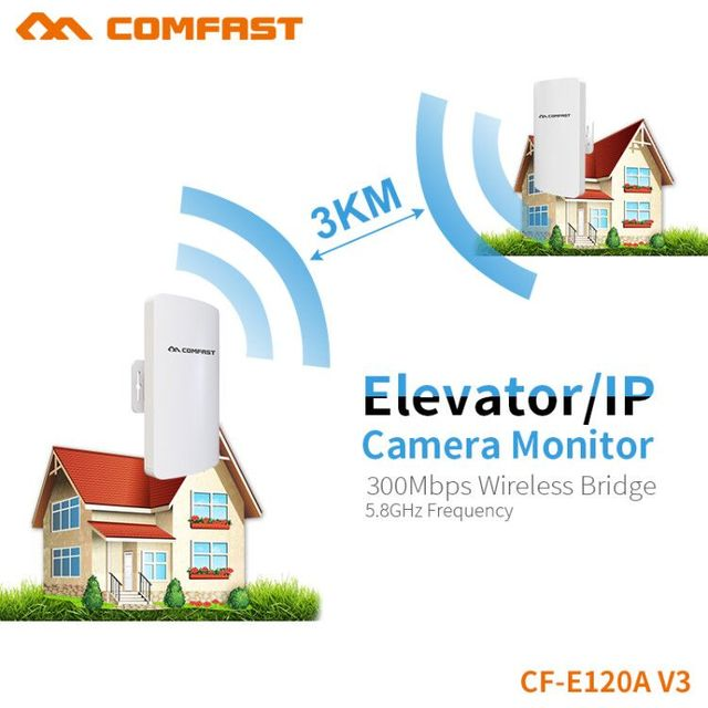 US $409 9 20% OFF|2km Long Range Wireless Outdoor CPE WIFI Router 5 8Ghz  300Mbps WIFI Access Extender Outdoor Bridge Client Router Antenna  station-in