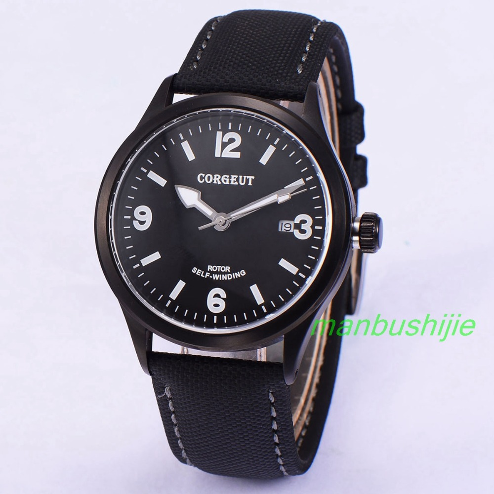 41mm Corgeut Wristwatches PVD Case Black Dial 20ATM Men's Miyota 2815 Automatic Movement Watch Relogio Masculino купить недорого в Москве