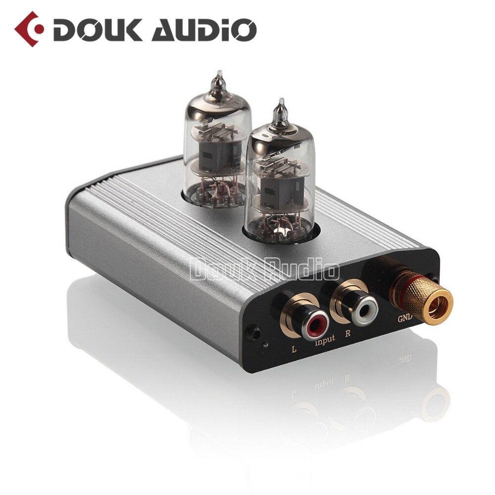 Douk аудио мини 6J1 вакуумная трубка Phono проигрыватель предусилитель мм/MC RIAA Hi-Fi класс A Предварительный усилитель Бесплатная доставка