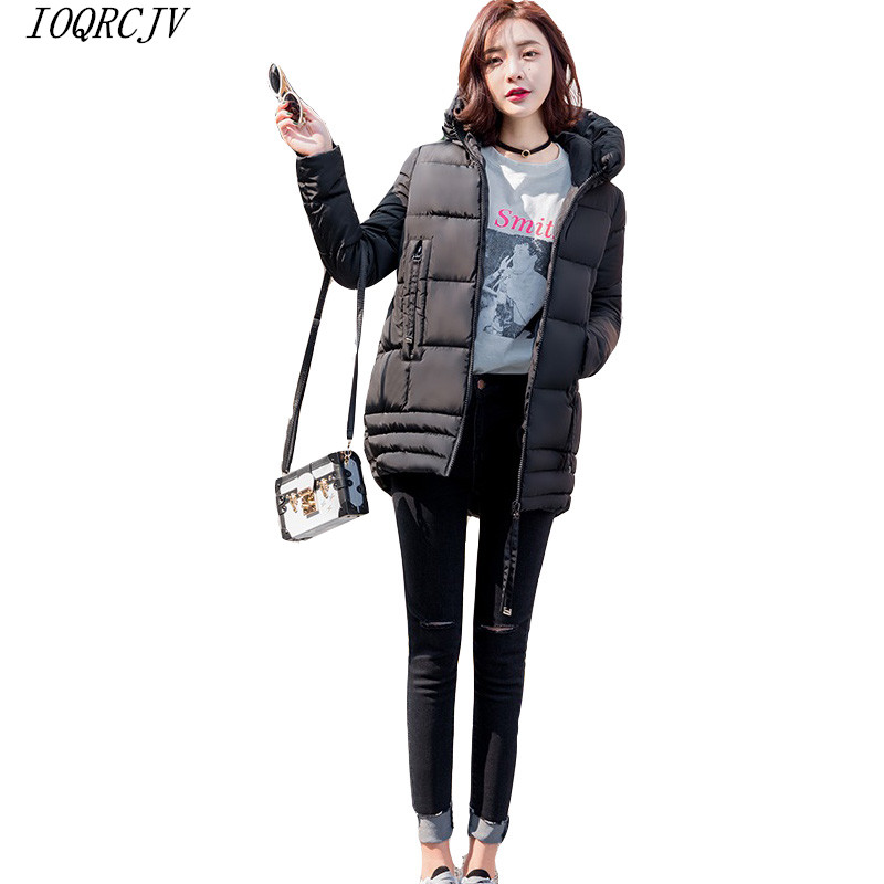 Fashion Ladies Down Short Coat Winter Cotton-padded Jacket Women Slim Solid Hooded pocket Zipper Outerwear Warm   Parkas   feminina