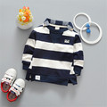 2017 New Spring Striped Baby Boys Girls Pullover Top Babies Girls Long Sleeve T-Shirt Clothing Sweatshirt Toddler Clothes Ss120