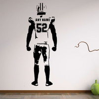 Wallpaper American Football Wall Decor Custom Jersey Name Number Wall Sticker