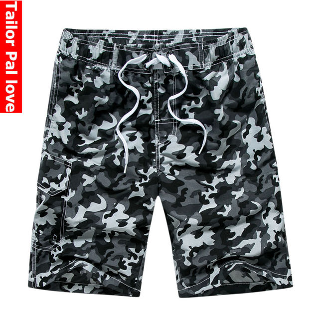 Zwembroek Short Heren.Camouflage Strand Shorts Mannen Sneldrogende Boardshorts Bermuda