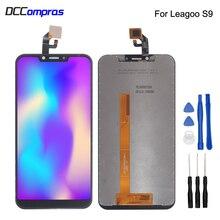 Orijinal Leagoo S9 dokunmatik LCD ekran ekran değiştirme telefonu parçaları Leagoo S9 ekran LCD sayısallaştırıcı ekran ücretsiz araçlar