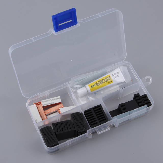 Aluminum Heatsink Cooler Circuit Board Cooling Fin For Raspberry Pi 2 A A+ Heatsink Cooler Circuit Board