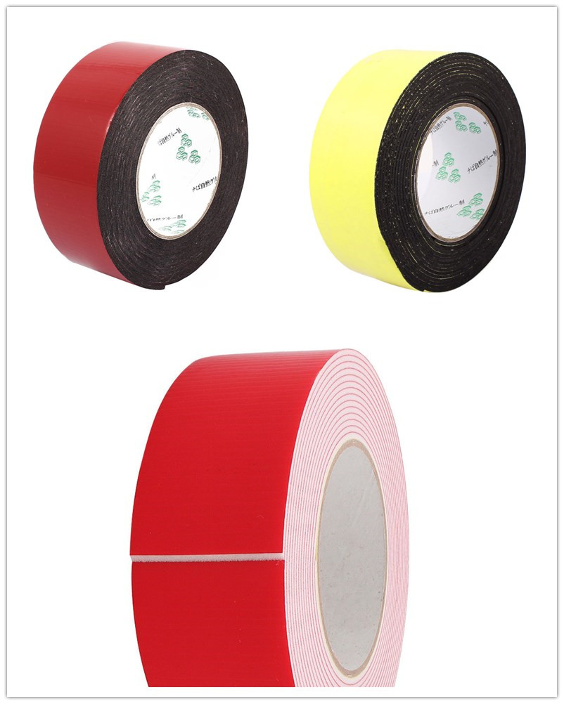 1PCS 50mm x 2mm Self Adhesive Shockproof Sponge Foam Tape 5M Length 10m 40mm x 1mm dual side adhesive shockproof sponge foam tape red white