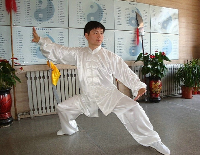 Chinese Kung Fu Tai Chi Uniform Unisex Martial Arts Clothing Wushu Suit Morning Exercise Suit