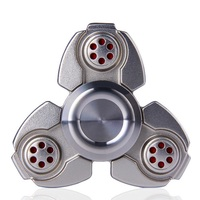 Metal Tri Spinner Russia CKF Fidget Spinner Hand Gyro Zinc Alloy For Autism ADHD Rotation Anti
