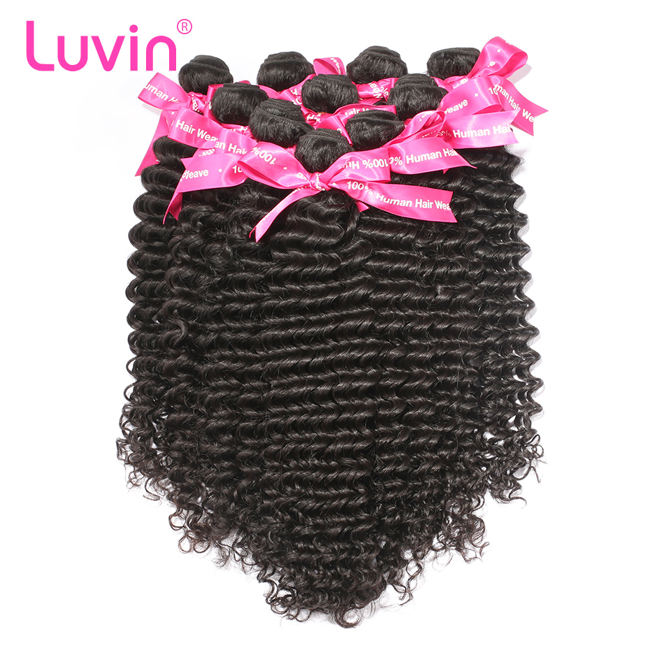 <font><b>Luvin</b></font> Wholesale Cheap 10 Bundles Human <font><b>Hair</b></font> Malaysian Deep Wave Factory Price Shipping Free image