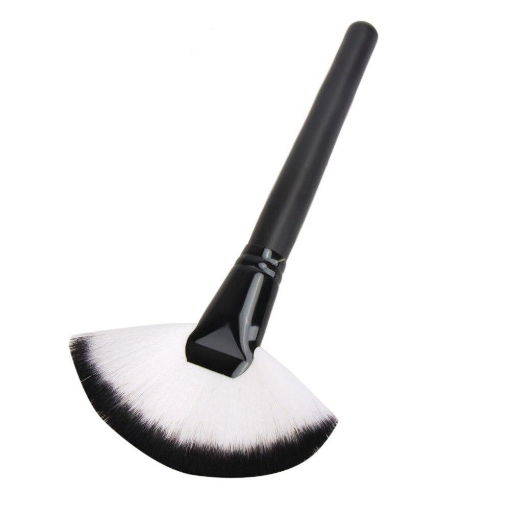1pc Soft Fan Shape Brush Blush Loose Powder Foundation Beauty Makeup Cosmetic Brush Maquiagem 1pc beauty women powder brush single soft face cosmetic makeup brush big loose shape maquiagem