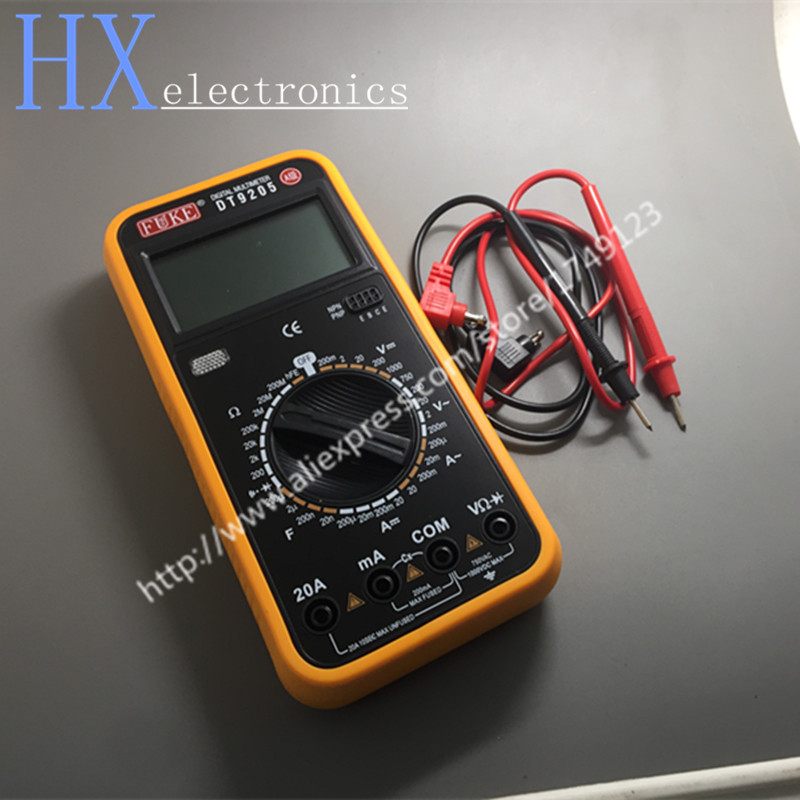 Free shipping 1PCS FUKE DT9205 A stage full protection against burn digital multimeter multimeter large screen display number  vc201vc202vc203 pocket digital multimeter full protection of digital multimeter