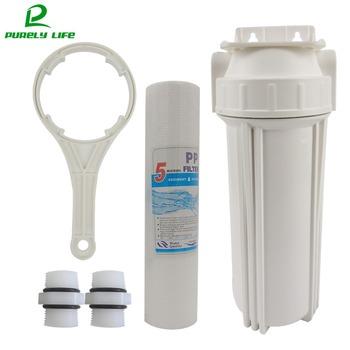 Filtr wstępny 1 2 #8222 1 4 #8221 podłączenie 10 cal wody filtr wstępny filtr do wody filtr do wody PPF bawełna jednostopniowe filtr wstępny z wieszakiem tanie i dobre opinie purely life Wstępna filtracja w gospodarstwie domowym PREFILTR CN (pochodzenie) prl-qz01 DN15 Pośrednie źródło napoju