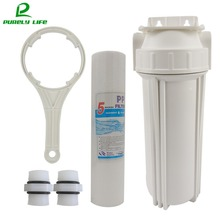Pre-filter 1/2  1/4connect 10 inch water Pre-filter water purifier water filter,PPF cotton single stage prefilter with  Hanger direct selling promotion terminal purification clear ce water filters one stage pre filter transparent desktop carbon filter