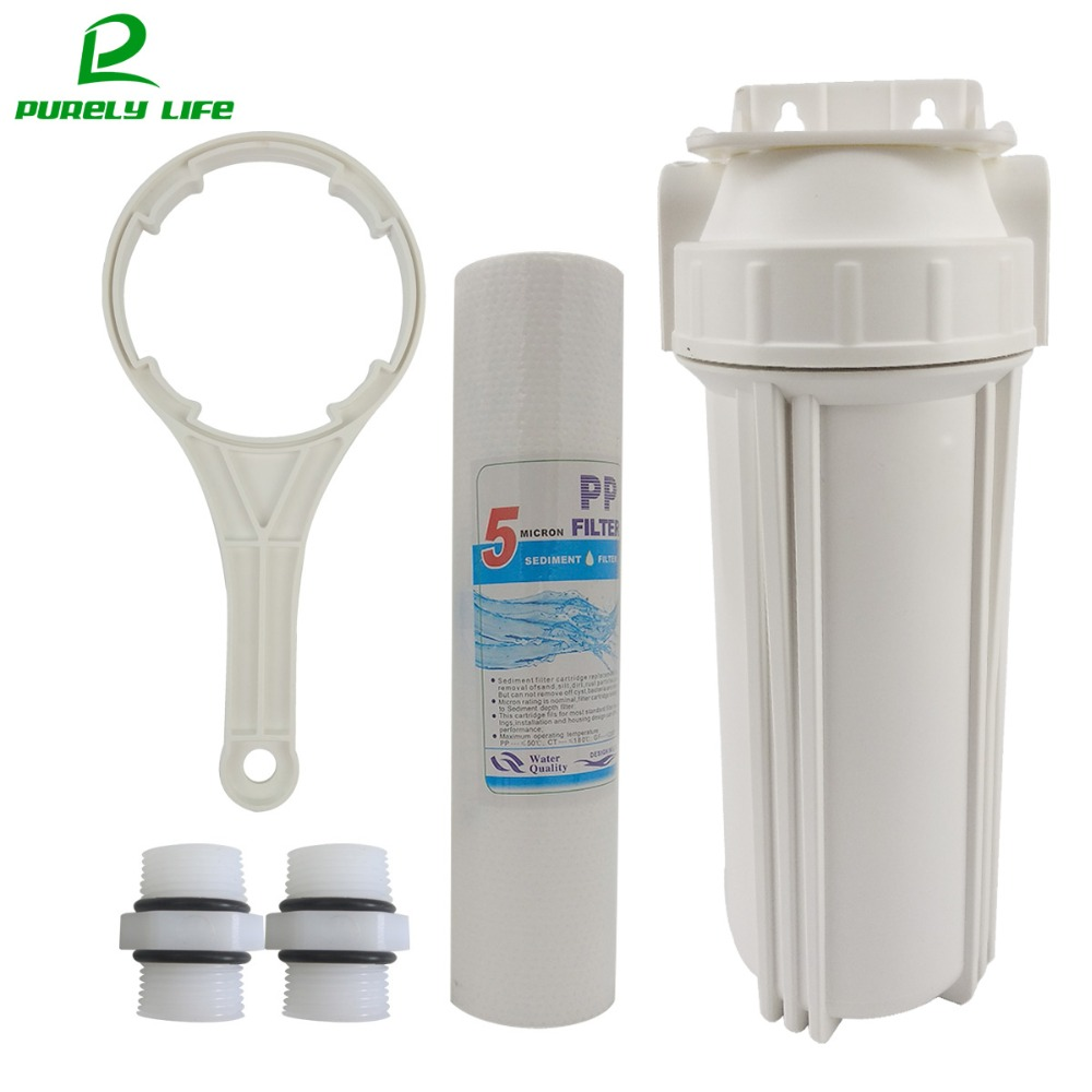 Pre-filter 1/2″connection 10 inch water Pre-filter water purifier water filter,PPF cotton single stage prefilter with Hanger €69.99 Undersink Water Filter Systems Water Filter Housings