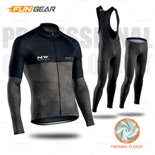 Winter Cycling Clothes Men Long Sleeve Jersey Suit Cycling Set Pro Team MTB Thermal Clothing Riding Bike Riding Outdoor Wear недорго, оригинальная цена