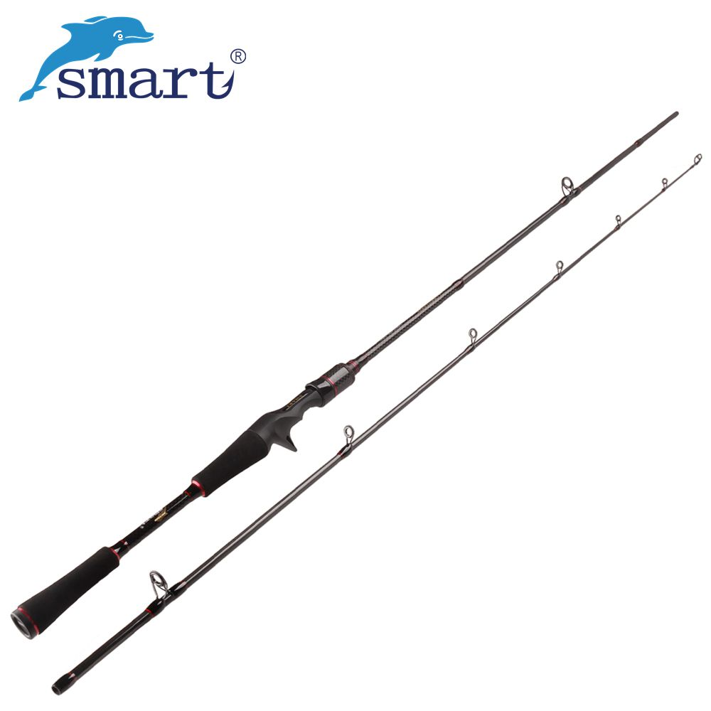 Smart 2.1m 2 Section Spinning/Casting Fishing Rod 135g Carbon M Power Lure Canne Baitcast Peche Sea Carp Pole Fly Fishing Tackle цена